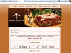 restaurant ordering system project