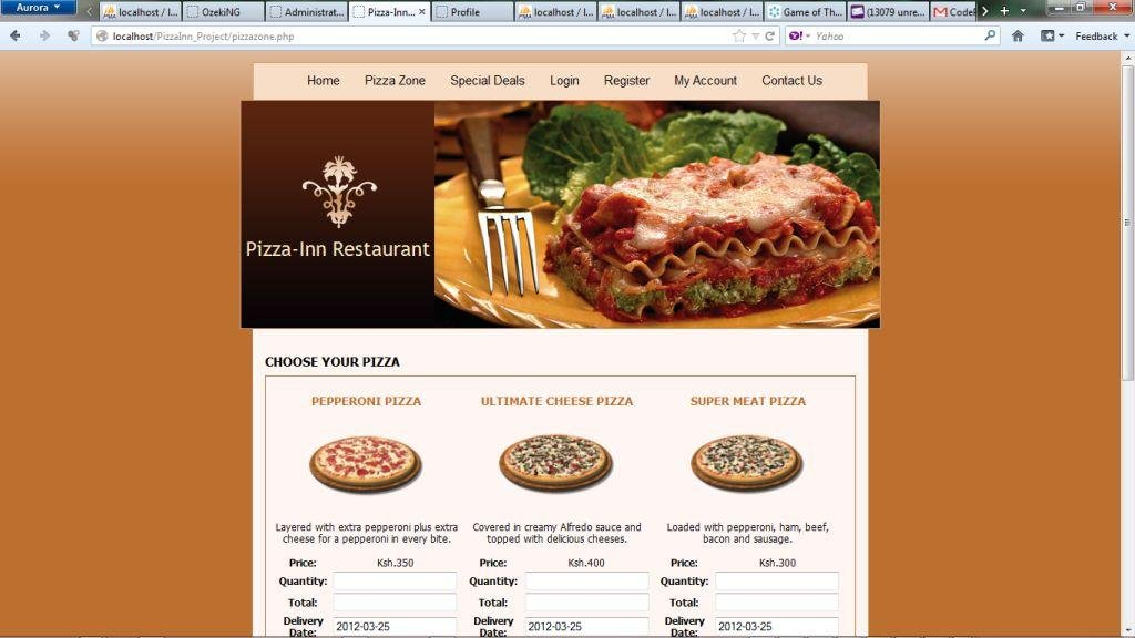 Restaurant Script (PizzaInn_Project) download | SourceForge net
