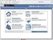 RESTORE User Home Page