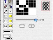 A bitmap editor window