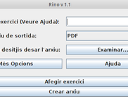 RINO graphical interface
