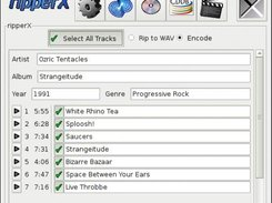 Track selection in ripperX