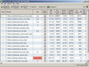 The main window showing selected isam file metrics