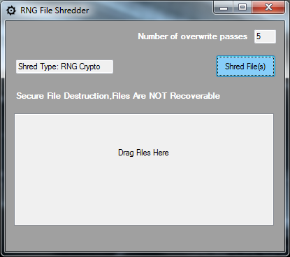 RNG File Shredder download | SourceForge net