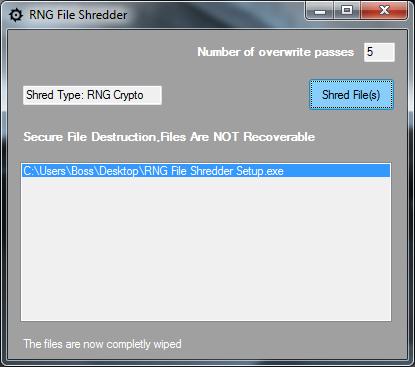 RNG File Shredder download   SourceForge net
