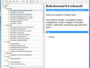 RoboJournal 0.4 running on Windows 7