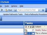 The Outlook toolbar, with button for Remedy configuration
