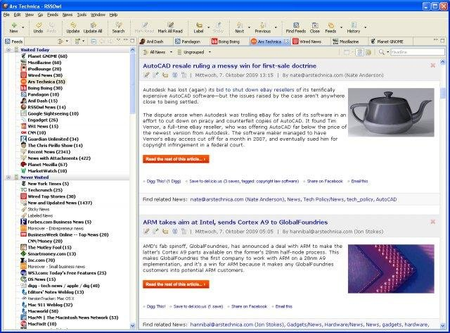 RSS Owl | RSS / RDF / Atom Feed Reader download
