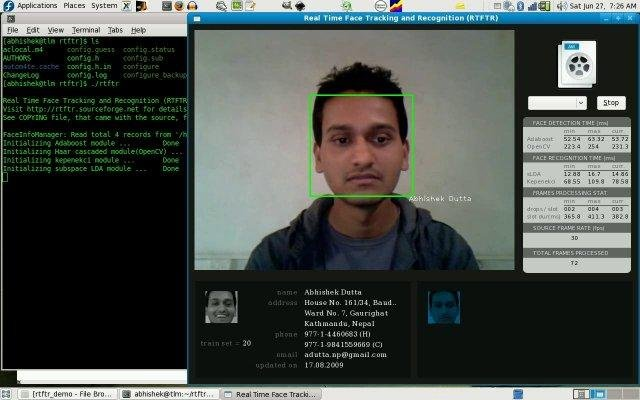 Real Time Face Tracking and Recognition download | SourceForge net