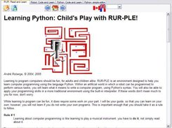 RUR: a Python Learning Environment download | SourceForge net