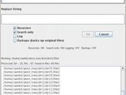 Recur. Search and Replace (SandR) v 2.5 Screenshot - Linux