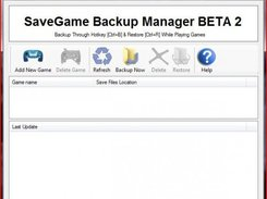 SaveGame Backup Manager BETA 2