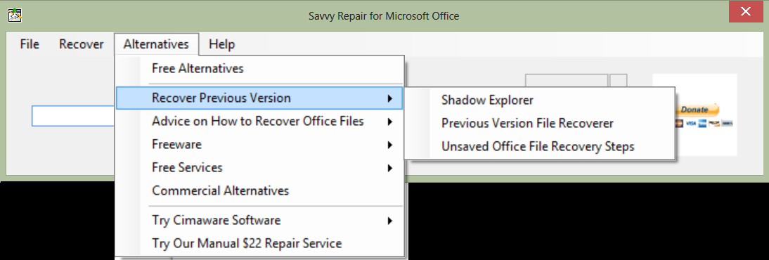 Savvy Repair for Microsoft Office download | SourceForge net