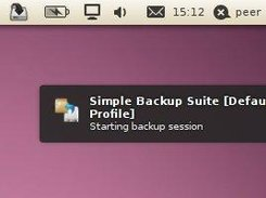 Simple Backup notification and status indicator