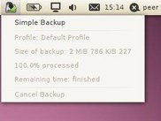 Simple Backup status indicator