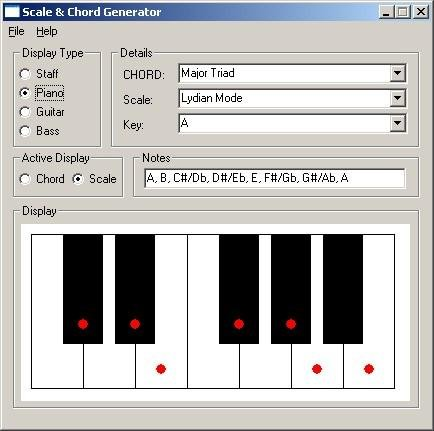 Scale and Chord Generator download | SourceForge.net