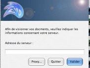 Host dialog (French / Mac OS X Tiger)