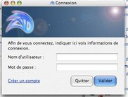 User selection dialog (French / Mac OS X Tiger)