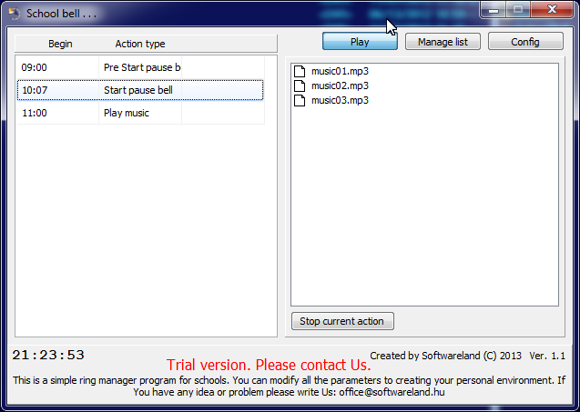 School bell V1 10 download | SourceForge net