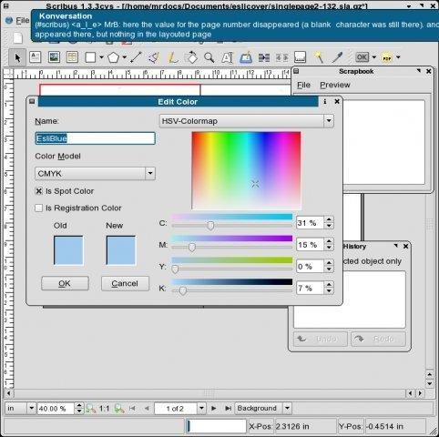 Scribus for Mac OS X screenshot