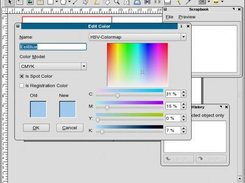 Creating and Managing Spot Colors in Scribus