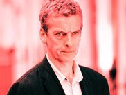 a very red Peter Capaldi