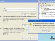 Showing server settings (regenerating certificates)