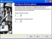 Configuring sharing options