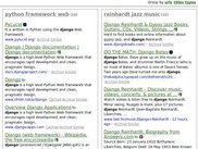 clustered websearch results