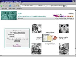 2004 - Login for health professionals to their SEHR Desktop