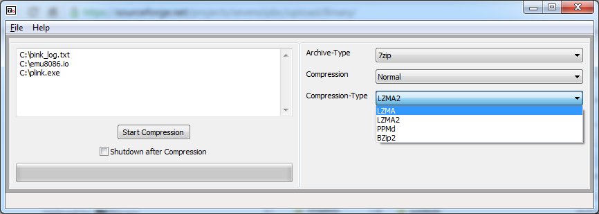 7zip Batch Compression download | SourceForge net