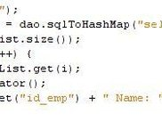 Returning a HashMap from a SQL Query