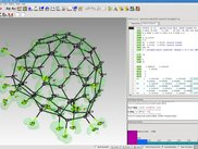The GUI with a fluorinated Fullerene.