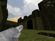 Minigun outside the castle