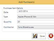 4 - Add Purchase Items