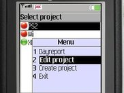 Project List with the posibility to Create/Edit a project