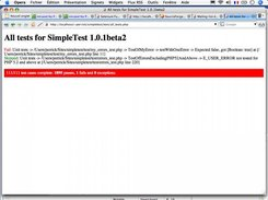 Test with red bar : one failure
