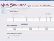 Matrix method for simultaneous equations