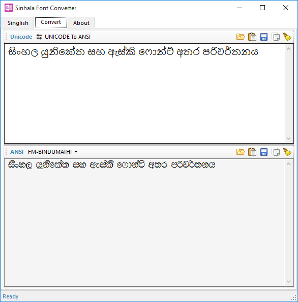 Sinhala Font Converter download | SourceForge net