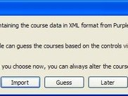 Course data can be imported, guessed or entered
