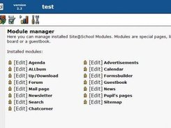 Module manager main screen
