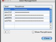 Seed management dialog