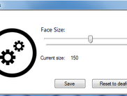 Udjust face size to match your screen resolution