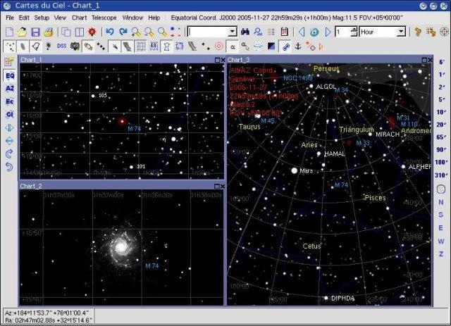 Star Map Software.Sky Chart Cartes Du Ciel Download Sourceforge Net