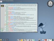 The E17 desktop with GANT theme