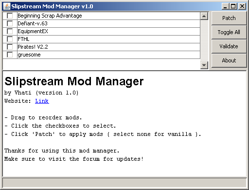 Slipstream Mod Manager download | SourceForge net