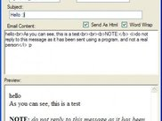 Sending and previewing html e-mails
