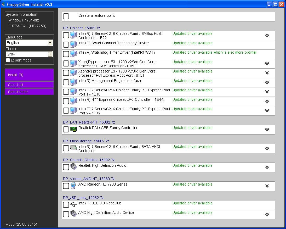 Snappy driver installer download for Windows installer