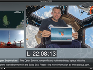 Snowmix in action for Copenhagen Suborbitals. Andreas Mogensen in the Cupola on ISS sending greetings to CS.