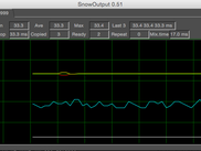 Snowoutput, a GUI App for monitoring output timing and buffers of Snowmix.